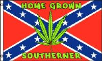 3'x5' Rebel Flag with Leaf [Home Grown Southern]
